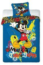 Mickey Mouse Rock Star Singer Bedding Duvet Cover Bed Set Kid 160x200cm & 70x80