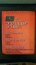 Al Green Full Of Fire Rare Original Promo Poster Ad Framed!