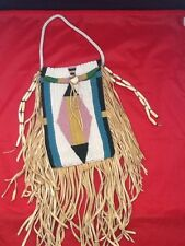 Reproduction Crow Style Beaded Document Bag excellent condition Lots of Fringe