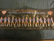 New York Knicks City Dancers Autographed 7X22 Photo/Poster NBA Basketball