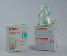 2X PIGEON SILICONE NIPPLE TEAT SIZE L K-TYPE ROUND HOLE FOR BABY FEEDING BOTTLE