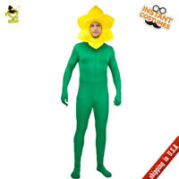 Men's Sunflower Costume Funny Sunflower Role Play Fancy Dress For Adult Party