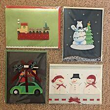 Burgoyne Decorative 3D Holiday Christmas Cards - Set of 4 - Sealed (5549)