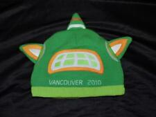 Vancouver 2010 Olympics Green Orange Hat Sumi Mascot Knit Adult Size Cap Lined