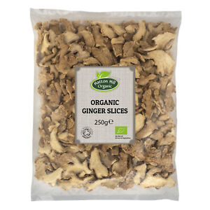 Organic Dried Ginger Slices 250g Certified Organic