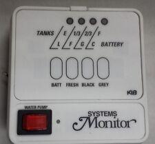 RV/Camper White KIB Systems Monitor  Panel Batt/Fresh/black/grey/water pump