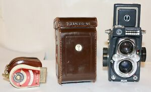 Yashica Gray 44 LM TLR 127 Film Camera In Case + Bewi Light Meter