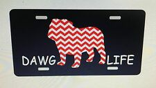Georgia Bulldogs License Plate Dawg Life Car Tag Georgia Bulldogs License Plate
