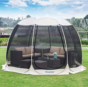 Pop Up House Gazebo, 4-6 Person Mosquito Netting Camping Tent, Hot Tub 10 X 10FT