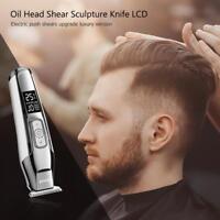 Electric Hair Cutting Carving Clipper Oil Head Shear Cutter Barber Razor Trimmer