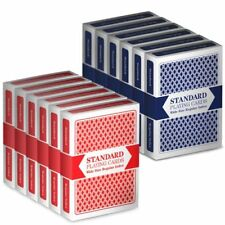 Brybelly Playing Cards, Poker Wide Size, Standard Index, Red/Blue 12-pack