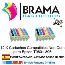 12 COMPATIBLES NON OEM PARA Epson Stylus PX650 , PX700W , PX710W , PX730WD