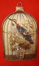 Cage à oiseaux mural en verre mercurisé avec photophore