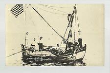 Tarpon Springs FLORIDA RP c1910 SPONGE FISHING BOAT Fishermen nr Tampa Dunedin