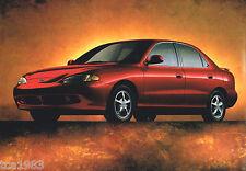 1998 HYUNDAI ACCENT / SONATA / ELANTRA/TIBURON Brochure/Catalog with Color Chart