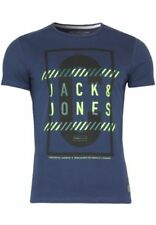 Magliette da uomo blu grafici JACK & JONES