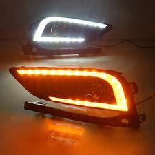 2X LED DRL Daytime Running Lights w/ Fog Driving Lamp Cover For Chevrolet Cruze