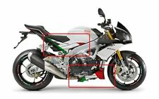 Aprilia Tuono V4 1000  Italian flag side & belly pan graphics decals set