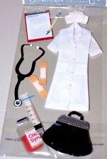 Nurse Chart Shots Black Bag White Uniform Hat Hospital Retro Jolee's 3D Stickers