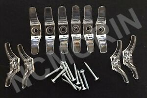 Qty. 10 Cord Cleats Clear with Screws. for Window Blind Shade string