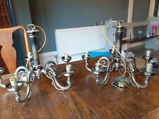 2x Bronze Iron Effect Chandeliers both with 5 Arms
