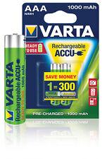 Varta AAA (Micro)/HR03 (5703) - 1000 mAh LSD-NiMH Akku (Ready-to-Use), 1,2 V