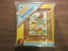 Columbia Minerva Kinglets Picture Crewel Embroidery Kit With Frame Unopened