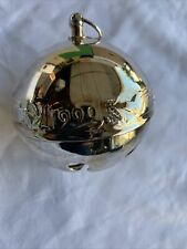 Wallace Silversmiths collectible annual silver Christmas Bell 1990