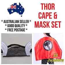 *Oz Seller* Kids Thor Cape Mask Costume Set Boys Superhero Avengers Birthday