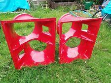 More details for red fiberglass 2 x 15 bass flare horns