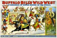 Buffalo Bill's Wild West 1899 Vintage Poster Canvas Giclee Print 34x24 in