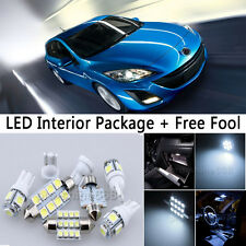 6X Bulb Car LED Interior Lights Package kit For 2010-up Mazda 3 Hatch White NQ