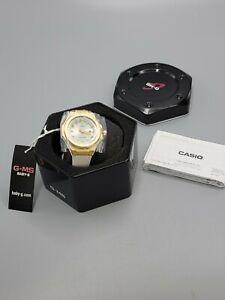 Casio Baby-G G-MS Ladies Solar Powered Quartz White Strap Watch MSGS500G-7A 38mm