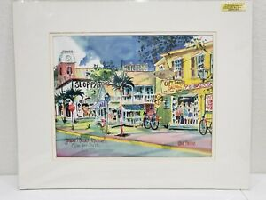 """Key West """"Greene & Duval"""" Ann Irvine Signed + Numbered Print By Artist"""