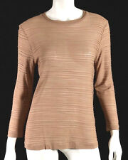 TOM FORD Nude Sheer Ribbed Long Sleeve Knit Top 38