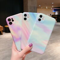 For iPhone SE 2020 11 Pro Max XS XR 8 Camera Protection Rainbow Soft Case Cover