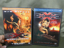 Xxx 1 & Xxx 2 State Of The Union Dvd Lot Vin Diesel Ice Cube. Both Full Screen