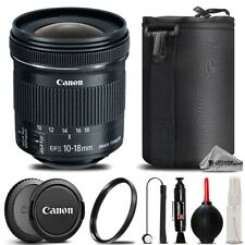 Canon 10-18mm IS STM Lens For T6i T6s T5i T6 SL1, EOS 700D 650D - Saving Kit