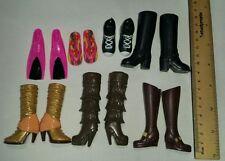 Bulk Bundle Barbie toy doll Shoes Pink flippers Boots Brown Black