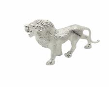 English Made Solid Sterling Silver Lion Animal Model Figure Full UK Hallmarks
