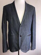 NWT $395 Boss Hugo Boss Cotton Jacket Blazer Dark Blue 42R US (52R Eu)