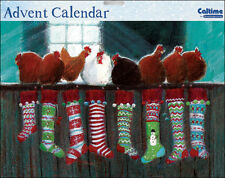 Christmas Hopes Hens and Chickens Advent Calendar Caltime 350 x 245 mm glitter