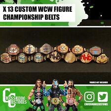 13 x Custom WCW Championship Belts for Mattel/Jakks/Hasbro Figures