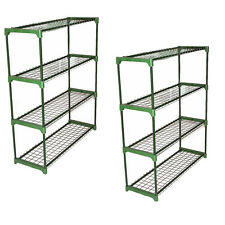 Panana Double Pack Flower Staging Display Greenhouse Racking Shelving Shelves