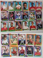 1990 Topps Philadelphia Phillies Team Set of 29 Baseball Cards