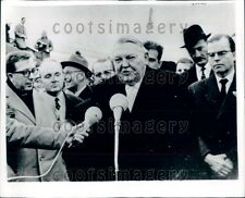 1965 West Germany Chancellor Ludwig Erhard at Wahn Airfield Press Photo