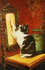 Greeting Card: Lure-Temptation Painting By Henriette RONNER-KNIP (1821-1909)