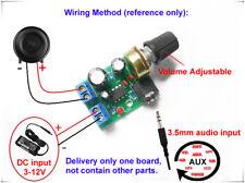 LM386 Mini Audio Power Amplifier AMP Board DC 3V~12V 5V Module Adjustable Volume
