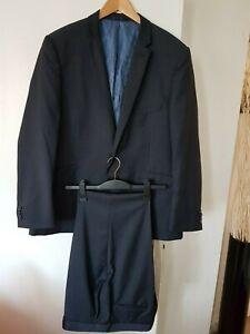 "Taylor Wright Men's Dark blue suit 44 R chest 46 w 36 Leg 32.5"" inch Long"