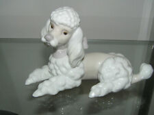 More details for lladro lying down french poodle dog 6337 laying in wait 1st quality signed
